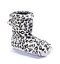 Animal Print Slipper Bootie