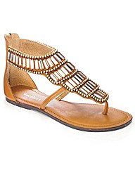 Isabella Cole Beaded Sandals E Fit
