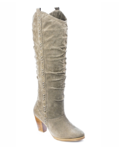 Viva La Diva Stud High Leg Boots E Fit