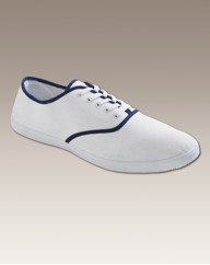 Jacamo Mens Lace Up Canvas Pumps