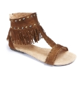 Grazia Studded Fringe Sandals E Fit