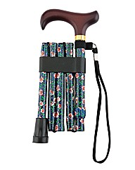 Folding Walking Stick - Floral