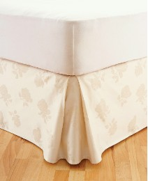 Rose Damask Fitted Valance