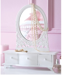 Bow Fronted Dressing Table Mirror