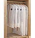 6pc Breathable Clothes Cover Set
