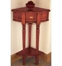 Solid Mahogany Corner Table
