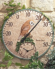 AllWeather Outdoor Clock and Thermometer
