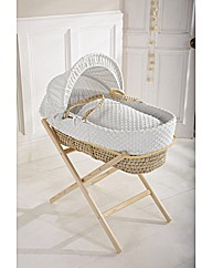Clair de Lune Dimple Moses Basket