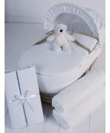 Clair de Lune 5 Pc Moses Basket Gift Set