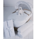 Clair de Lune 5 Pc Moses Basket Gift Set