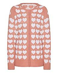 Heart Jacquard Cardigan