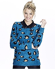 Fluffy Leopard Jumper