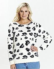 Fluffy Leopard Jumper