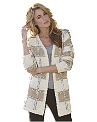 Edge to Edge Check Cardigan