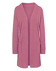Rose Pink Longline Cardigan