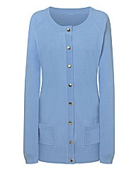 Baby Blue round Neck Cardigan