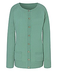 Spearmint Round Neck Cardigan