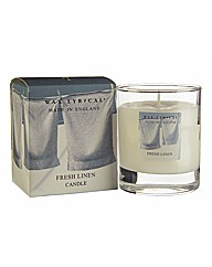 Made In England Fresh Linen Candle 35hr