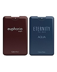 CK Aqua 20ml EDT & CK Euphoria 20ml EDT