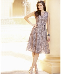 Fully Lined Devore Dress Length 43in
