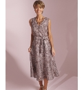 Fully Lined Devore Dress Length 43in
