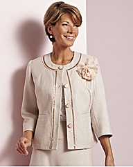 Jacket With Detachable Corsage
