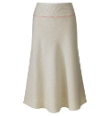 Skirt With Contrast Trim Length 29in