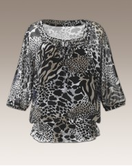 Printed Beaded Tunic