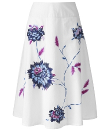 Embroidered Cotton Skirt Length 31in