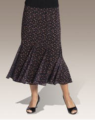 Spot Printed Chiffon Skirt Length