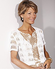 Ribbon Yarn Lace Design Shrug