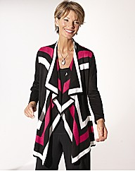 Waterfall Striped Cardigan