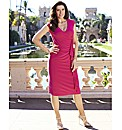 V- Neck Ruffle Dress Length 41 in.