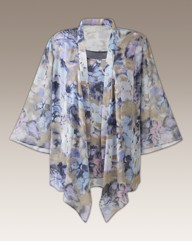 Print Edge to Edge Blouse And Vest