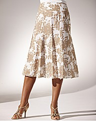 Printed Floral Skirt Length 27 in.