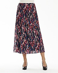 Crinkle printed skirt length 32 in.