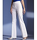 Stretch Linen Trousers Length 29in