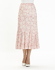 Nightingales Print Skirt length 32 in.