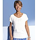 Scoop Neck Jersey Top With Beading