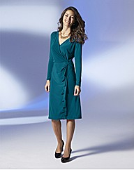 Long Sleeved Twist Knot Dress L41in