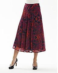 Paisley print Skirt L32in