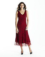 Red Cornelli Mesh Dress L48in