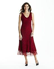 Red Cornelli Mesh Dress L48in