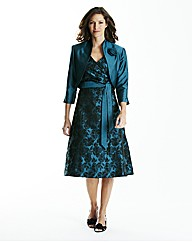 Jacquard Dress and Bolero Jacket L43in