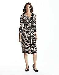 Print Dress Lined L42in