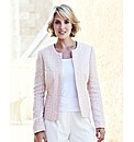 Boucle Jacket With Chiffon Trim
