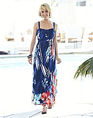 Nightingales Border Print Maxi Dress