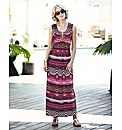 Nightingales Ikat Jewelled Beaded Dress