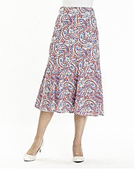 Print Skirt Length 32in