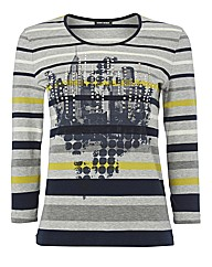 Gerry Weber Skyline-print Jersey Top